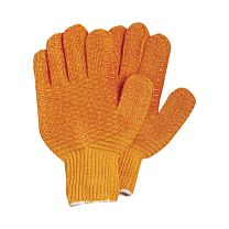 Orange Nylon No-Slip Leadering Gloves