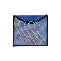 Five Galvanized Double Hook Rigs w/Pouch