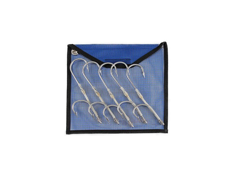 Five Stainless Steel Double Hook Rigs w/Pouch