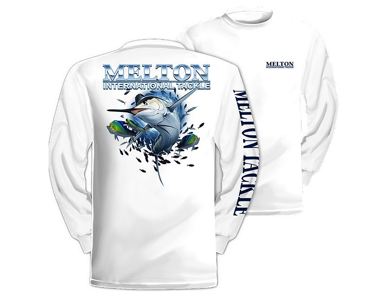 Melton Tackle Marlin Long Sleeve Shirt