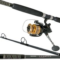Shimano Baitrunner BTR12000D w/Saguaro Spin SGS70H Combo