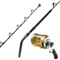 Melton Tackle High-Leverage GBF 130-Unlimited Stand-Up Rod w/Shimano Tiagra 80W Lever Drag Reel