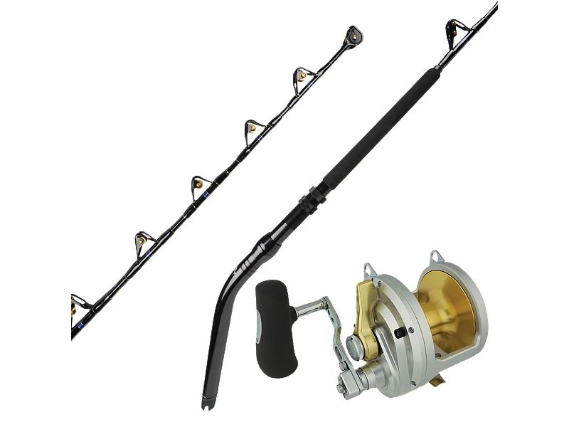 Melton Tackle High-Leverage GBF 130-Unlimited Stand-Up Rod w/Shimano Talica 50II Lever Drag Reel