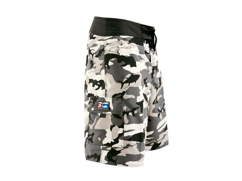 Pelagic Commando Fish Camo Shorts - Gray Fish Camo - 32