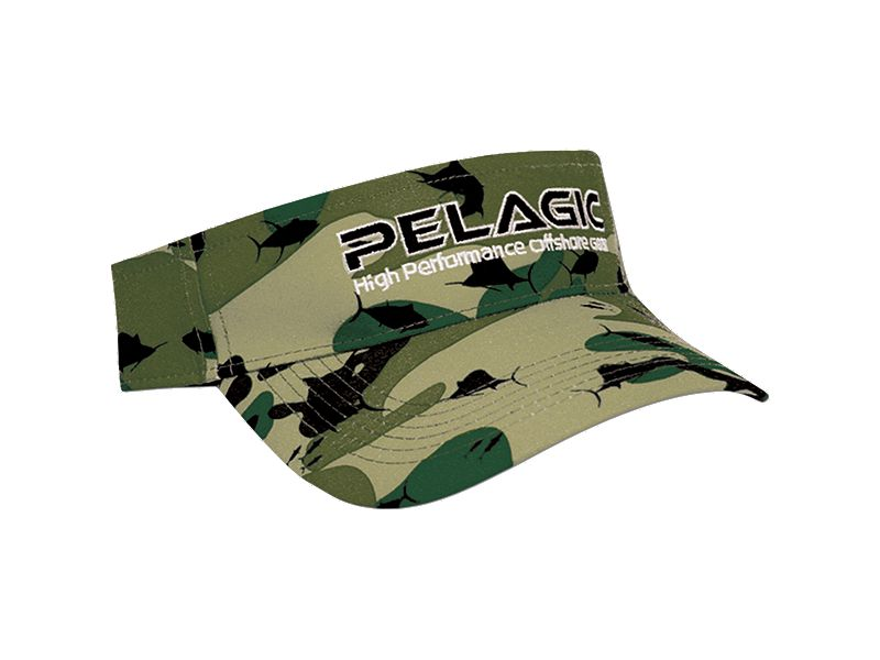 Pelagic Fish Camo Visor
