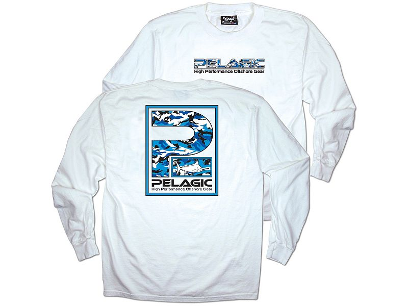 Pelagic Camo P Logo Long Sleeve Shirt
