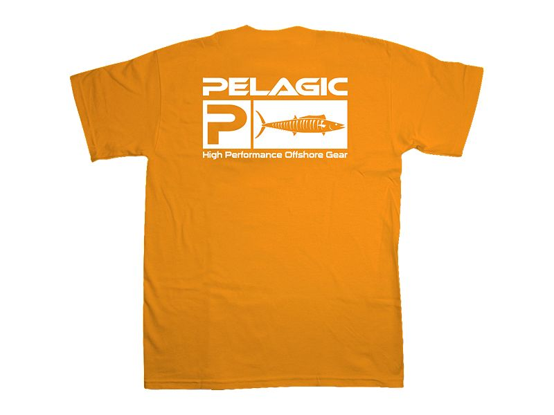 Pelagic Wahoo Flag Logo T-Shirt