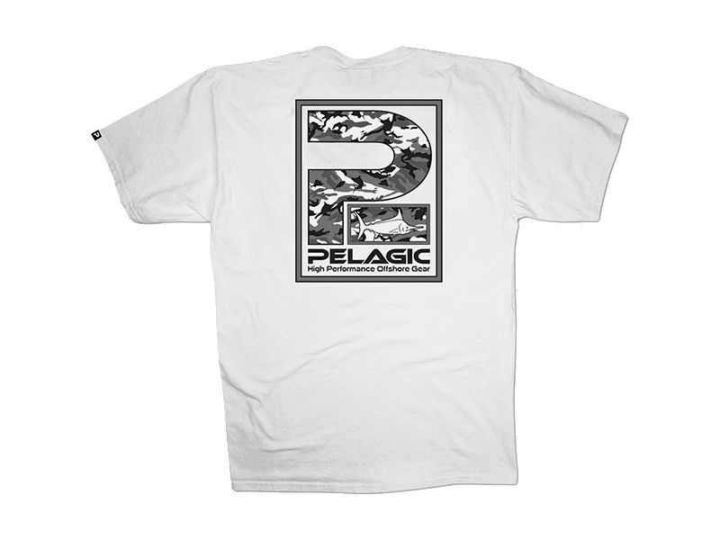 Pelagic Fish Camo P Logo T-Shirt