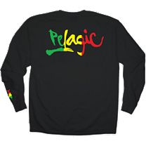 Pelagic Rasta Script Logo Long Sleeve Shirt