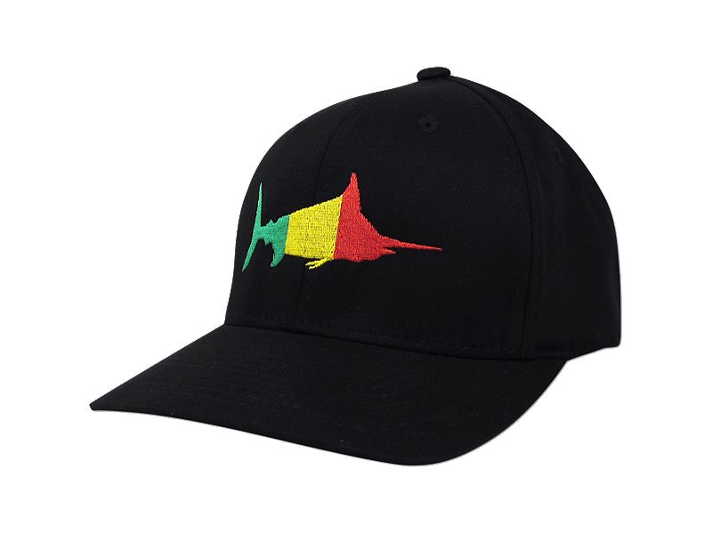 Pelagic Rasta Marlin Flexfit Cap