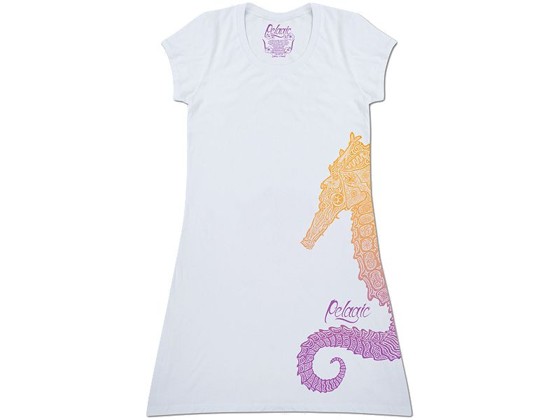 Pelagic Throw Over Seahorse Dress