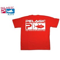Pelagic Yellowfin Flag Logo Youth T-Shirt