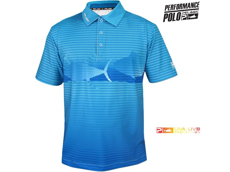 Pelagic Performance Tech Tuna School Polo