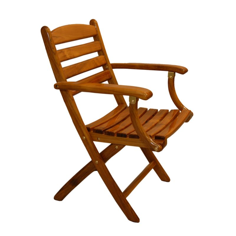 Teak Folding Chair release marine teak folding chair - melton international tackle