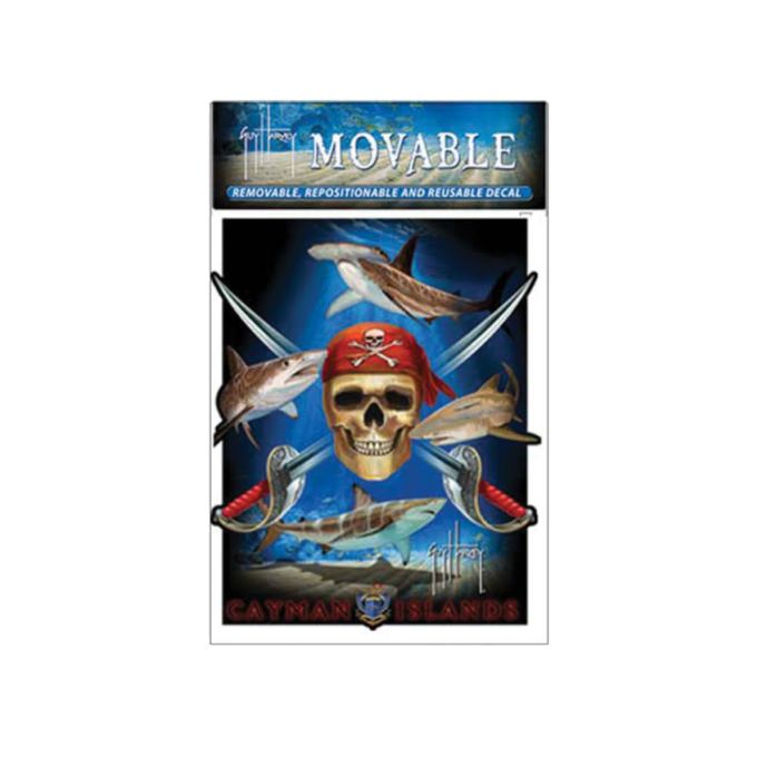 Guy Harvey Pirate Shark Moveable Stickers