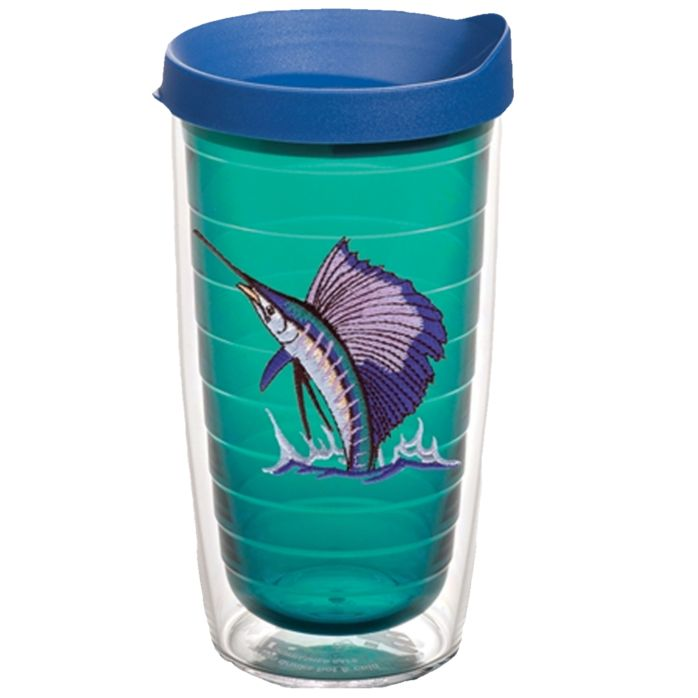 Guy Harvey Dolphin Flying Fish Jewel Tone Tervis Tumbler
