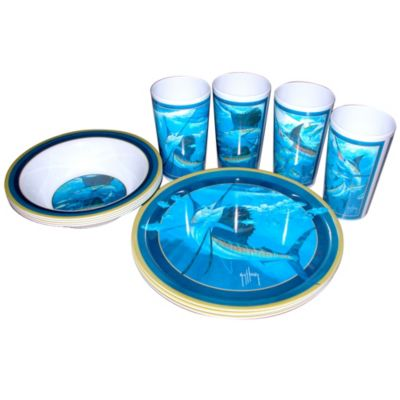 sc 1 st  Guy Harvey Depot & Guy Harvey Billfish Melamine Tableware Set