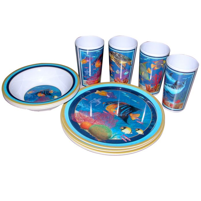Tropical Melamine Tableware Set