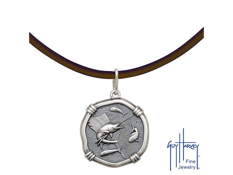 Guy Harvey Sterling Silver Medallion Necklaces