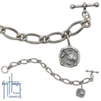 Ladies Sterling Silver Marlin Head Bracelet