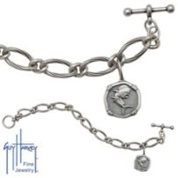 Ladies Sterling Silver Dolphin Bracelet