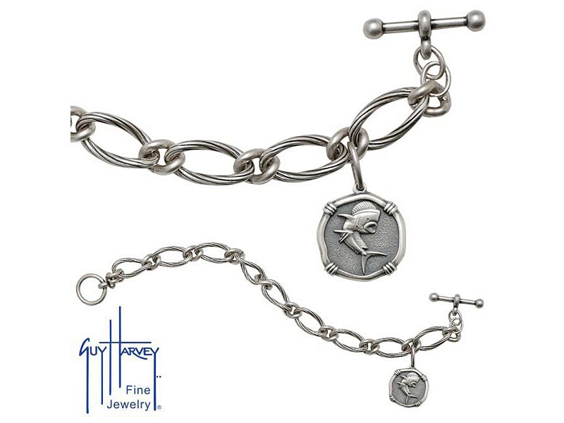 Guy Harvey Ladies Sterling Silver Bracelet