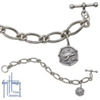 Ladies Sterling Silver Turtle Bracelet