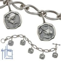 Ladies Sterling Silver Toggle Bracelet