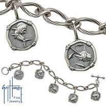 Guy Harvey Ladies Sterling Silver Toggle Bracelet