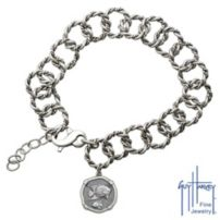 Ladies Sterling Silver Angelfish Rope Bracelet
