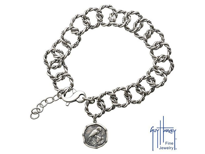 Guy Harvey Ladies Sterling Silver Rope Bracelet