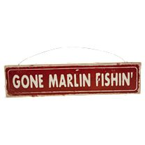 Classic Wooden Fishing Signs
