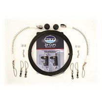 Rupp Single Outrigger Rigging Kit w/Zip Clips - Black Mono