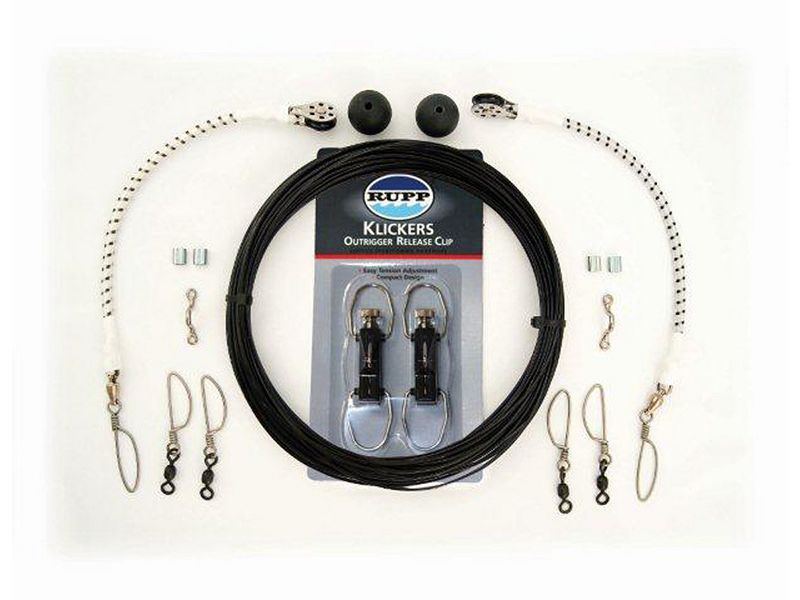 Rupp Single Outrigger Rigging Kit w/Klickers - Black Mono