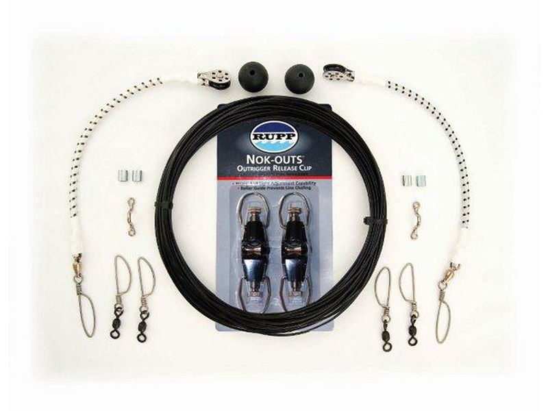 Rupp Single Outrigger Rigging Kit w/Nok-Outs - Black Mono