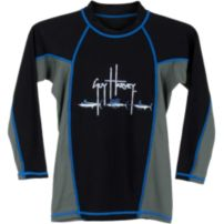 Fish Trail Boys Long Sleeve Rash Guard