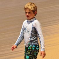 Mako Attack Boys Long Sleeve Rash Guard
