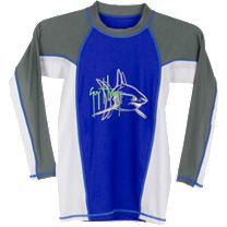 Guy Harvey Mako Attack Boys Long Sleeve Rash Guard