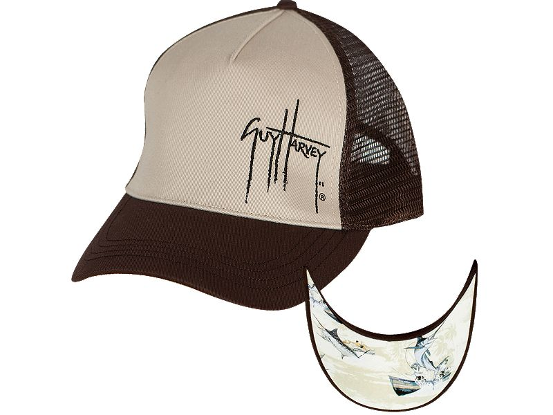 Guy Harvey Blue Marlin Trucker Hat