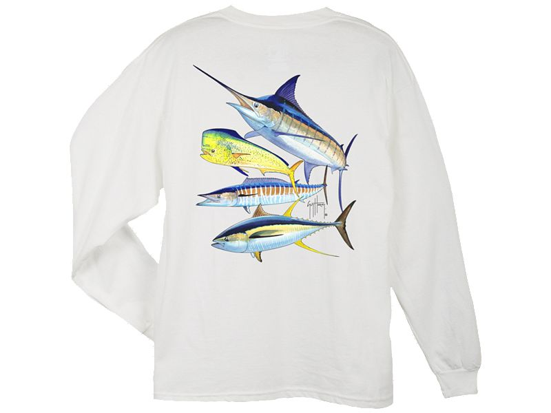 Guy Harvey Foursome Long Sleeve Shirt