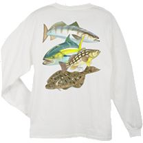 Guy Harvey Pacific Collage Long Sleeve Shirt