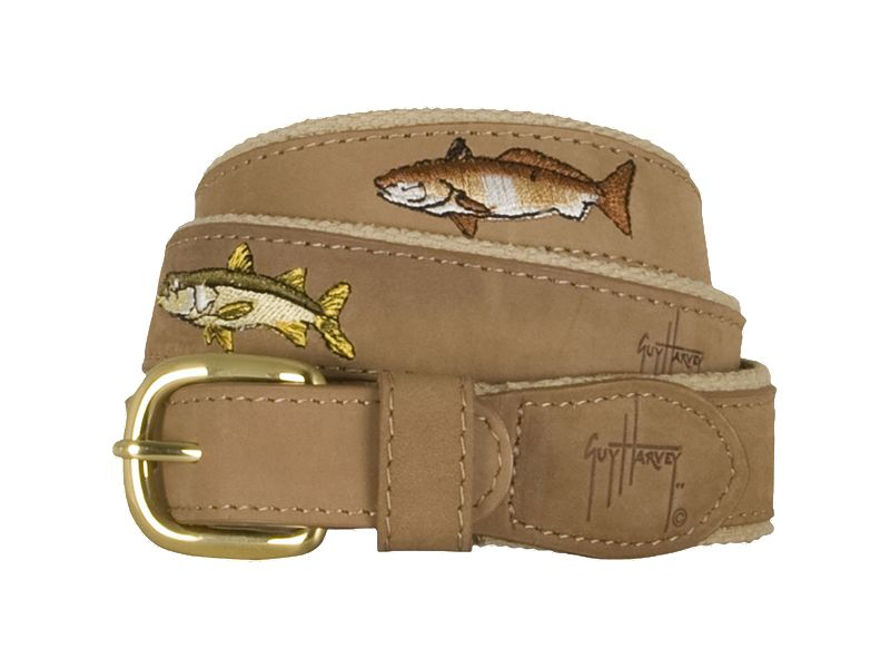 Guy Harvey Backcountry Slam Leather Belt
