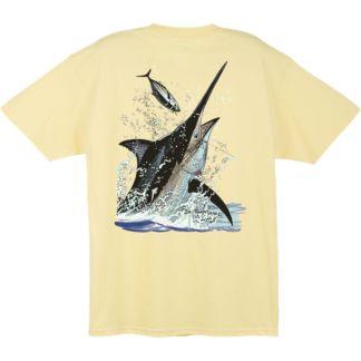 Guy Harvey Black Marlin Toss T-Shirt