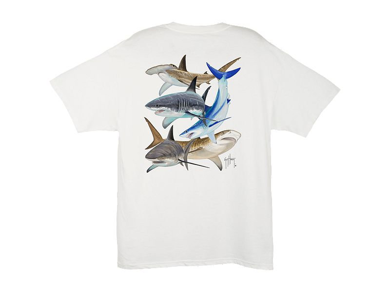 Guy Harvey Shark Collage T-Shirt
