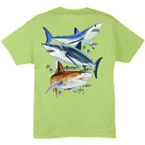 Guy Harvey Three Shark Youth T-Shirt