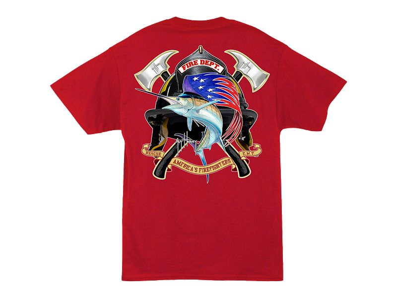 Guy Harvey Fire Department T-Shirt