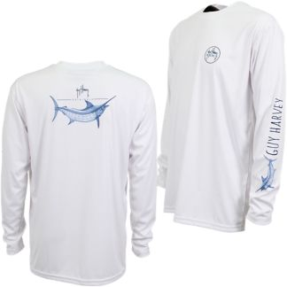 Guy Harvey Marlin Sketch Pro UVX Performance Long Sleeve Shirt
