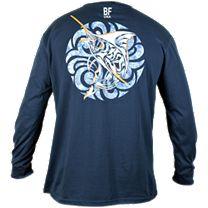 Bluefin Marlin Medallion Long Sleeve Shirt