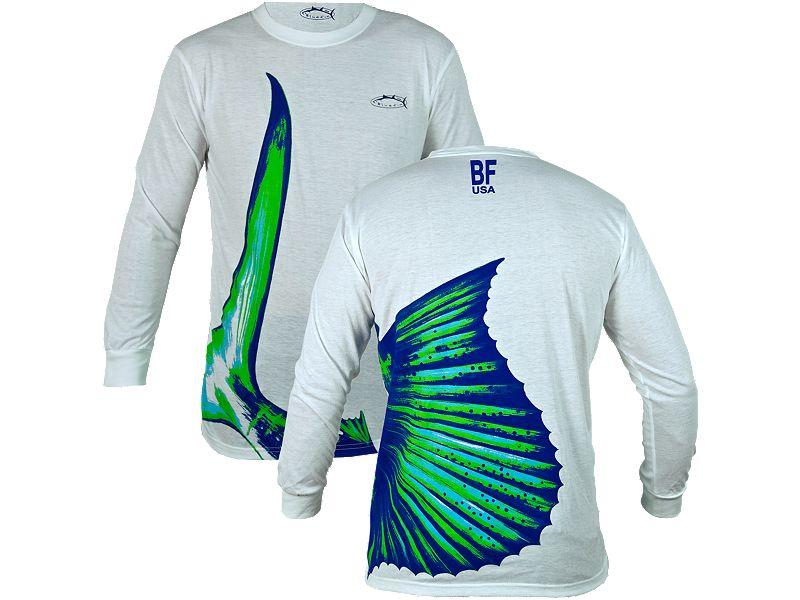 Bluefin Sailfish Tail Long Sleeve Shirt