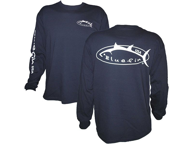 Bluefin Angler's Logo Long Sleeve Shirts